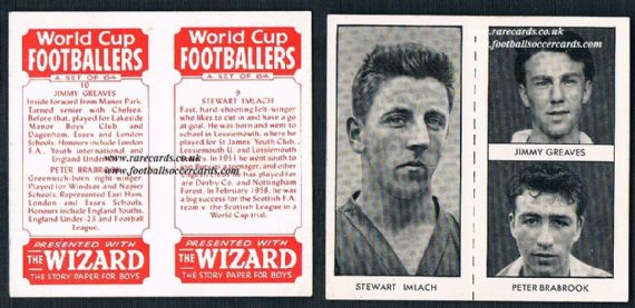 1958 Jimmy Greaves Wizard uncut rookie